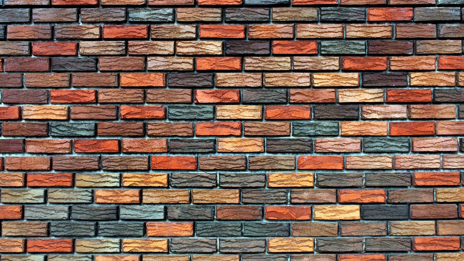 Brick wallpaper colors for Black 3d brick wallpaper