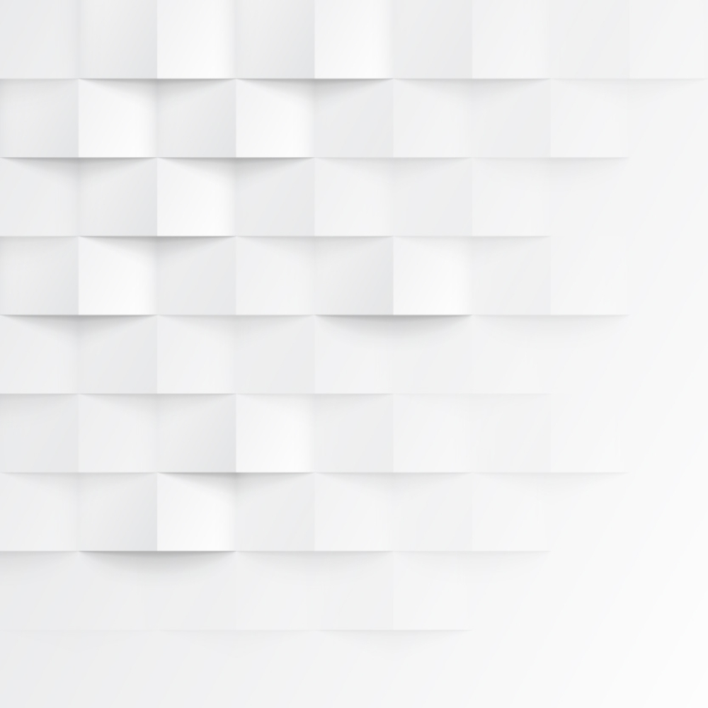 Abstract 3d White Geometric Background. White Seamless
