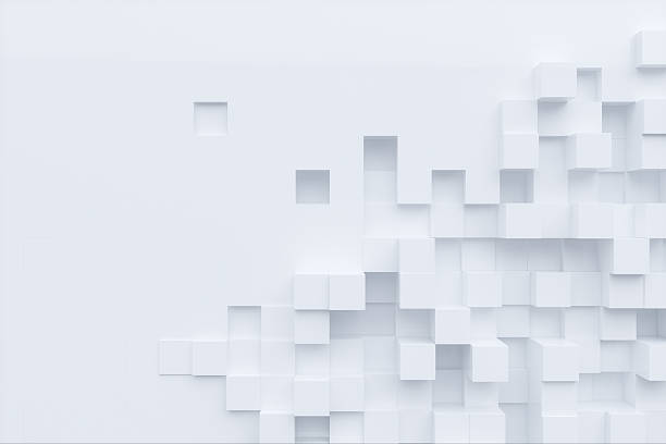 abstract low poly background stock photo white cube