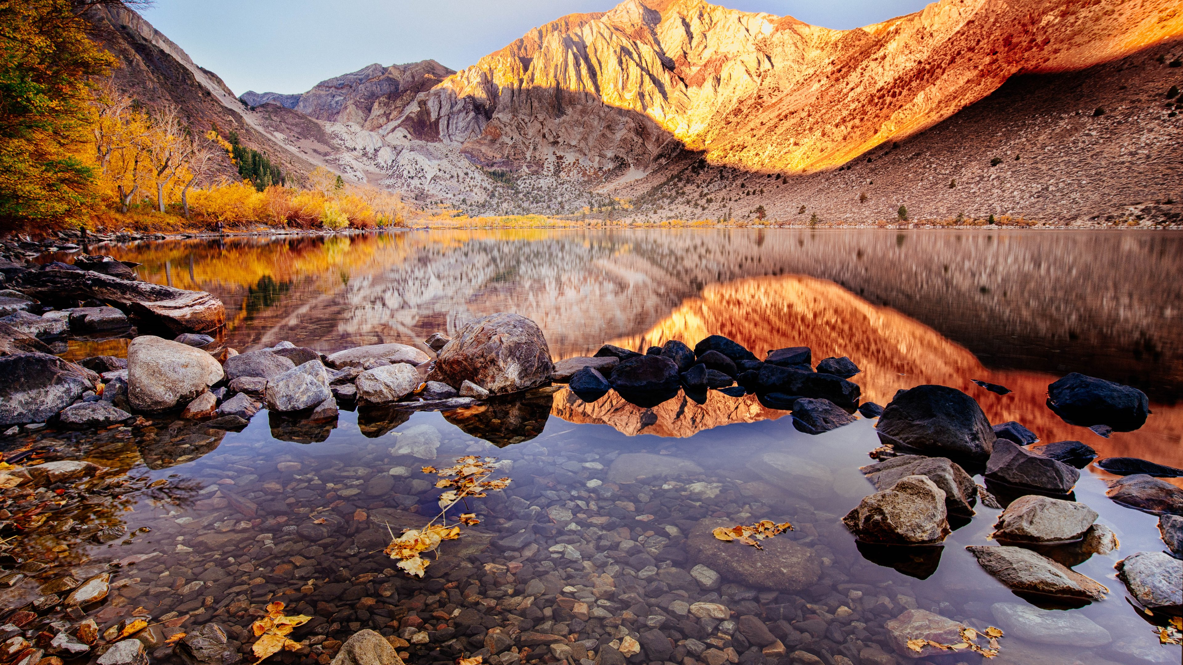 Convict Lake Autumn 4k, HD Nature, 4k Wallpapers