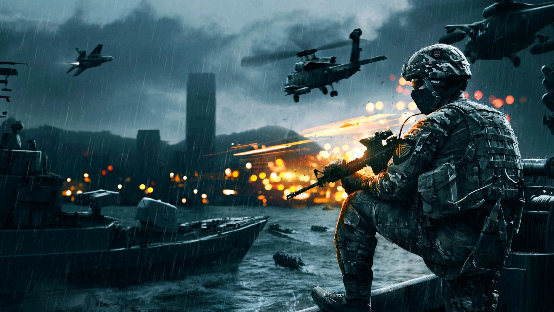 Download 1920×1080 Battlefield 4, Game, Ea digital illusions ce Wallpaper, Background Full HD 1080p