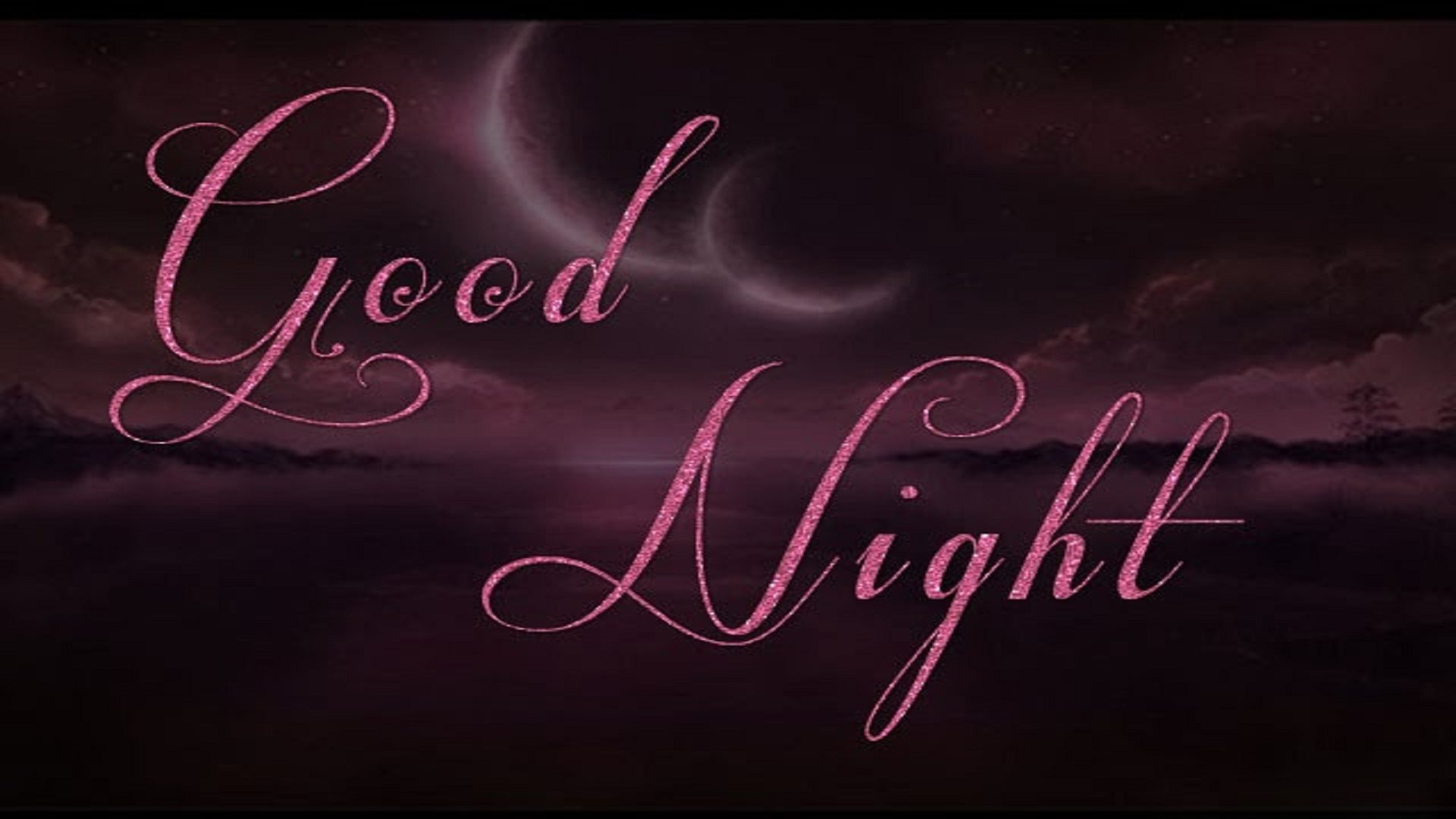 Good Night Greeting Wallpaper 1920×1080