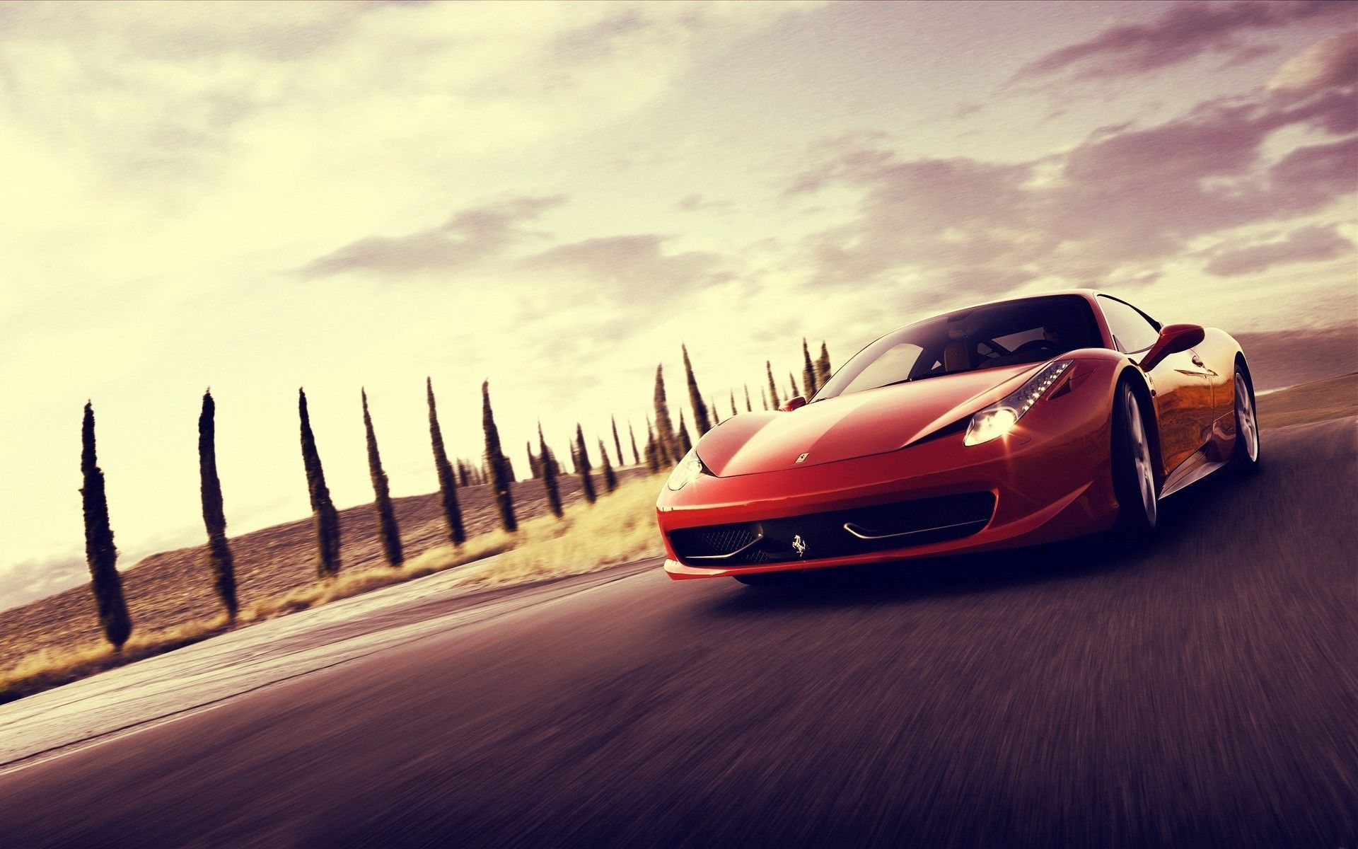 Red Car Wallpaper Ferrari italy