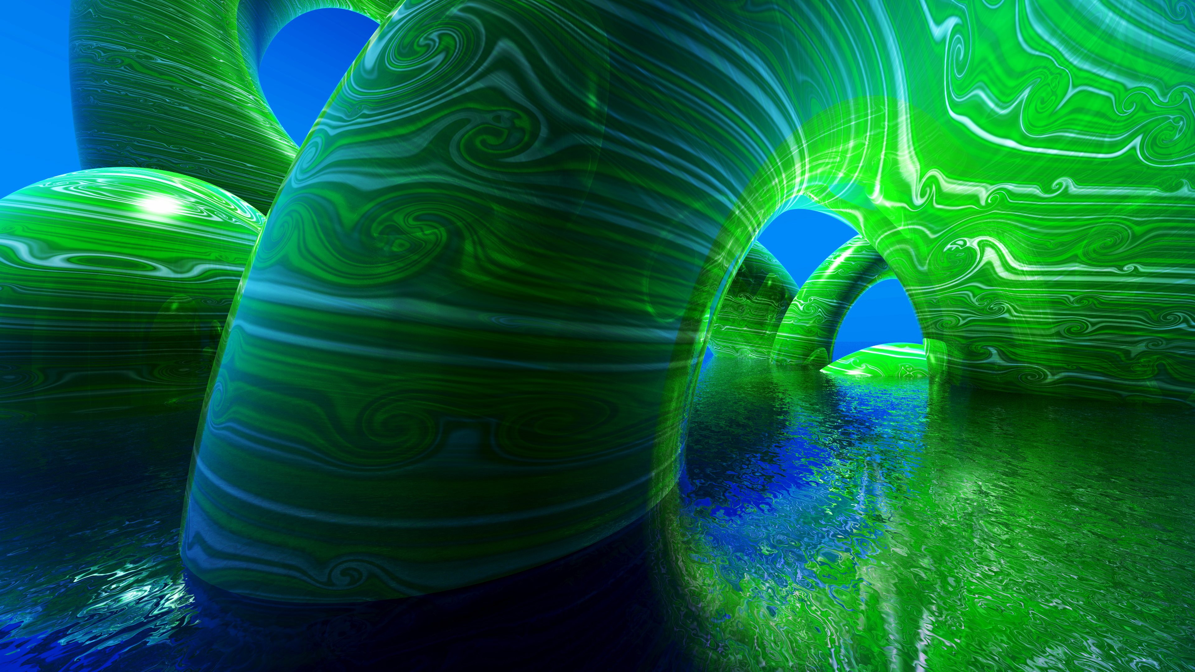 Wallpapers Abstract 4k Wallpaper 3d Green Blue Abstract 4k