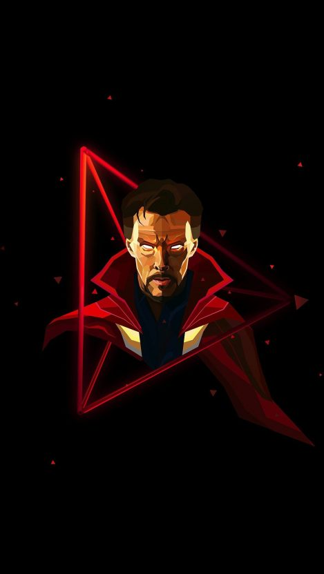 Doctor Strange Neon Avengers infinity War iPhone Wallpaper