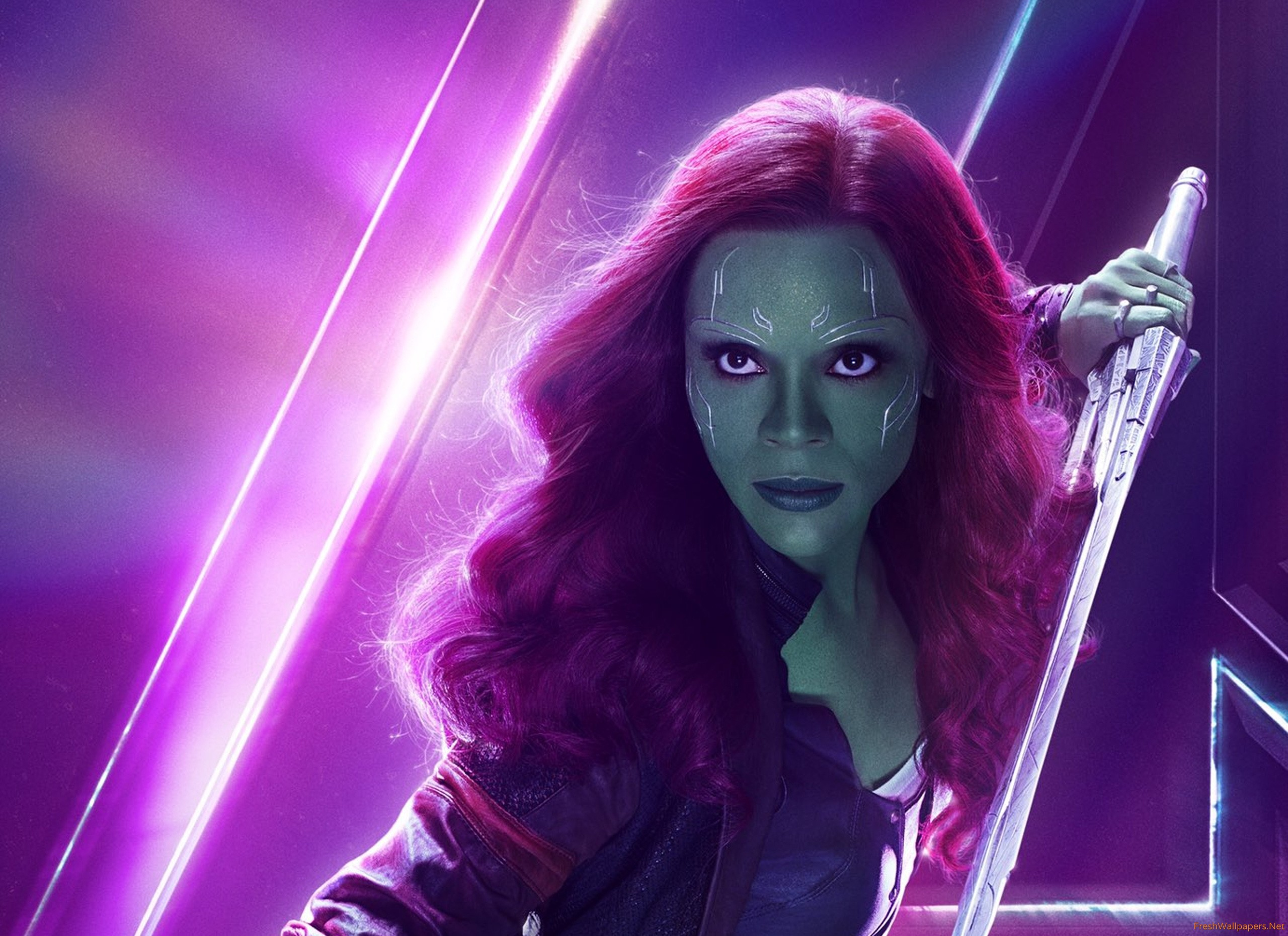 Gamora In Avengers Infinity War New Poster wallpaper