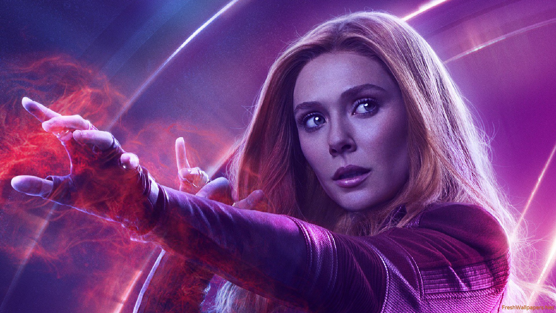 Wanda Maximoff In Avengers Infinity War New Poster wallpaper