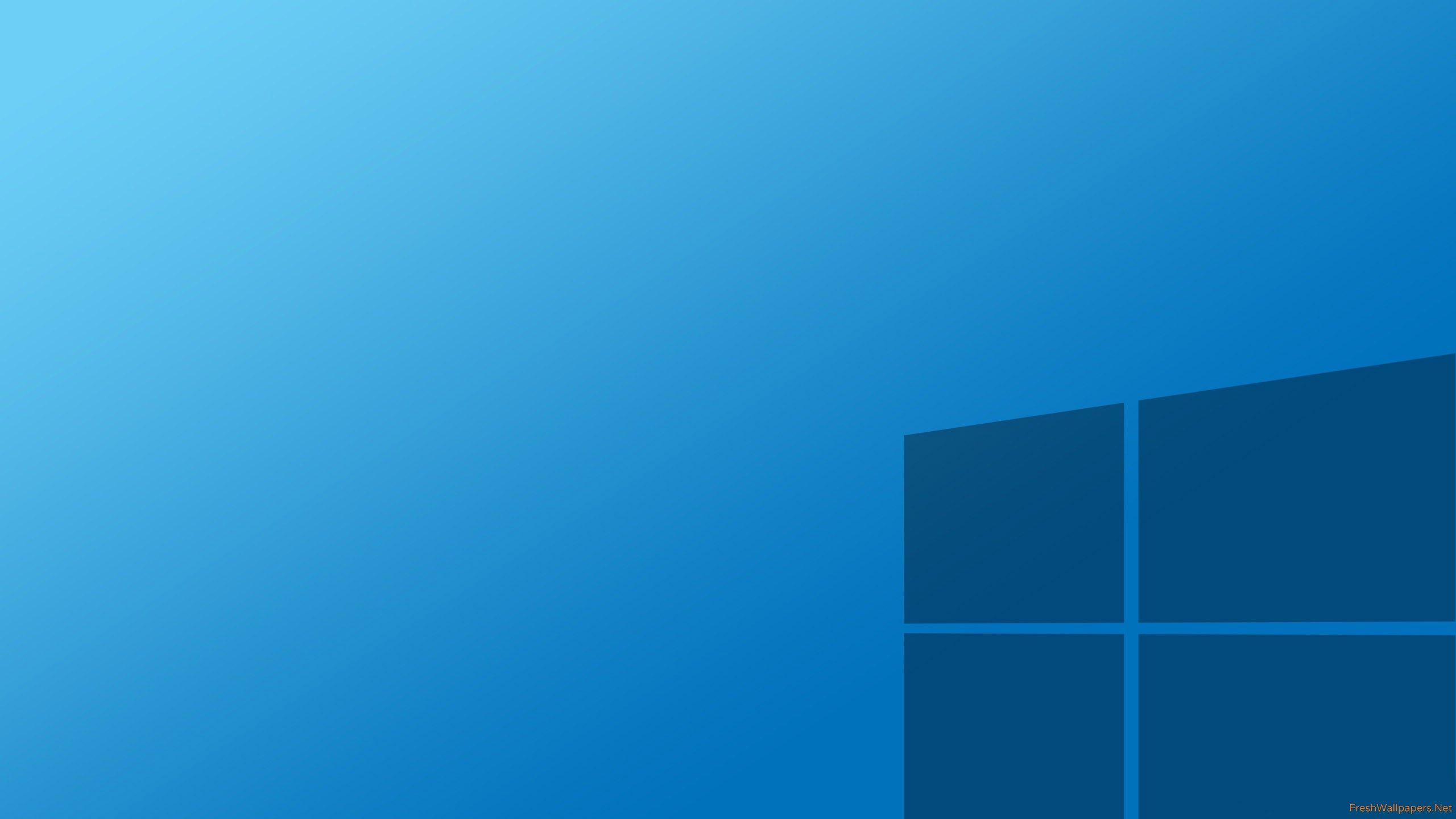 Windows 10 Blue Background wallpaper 4k