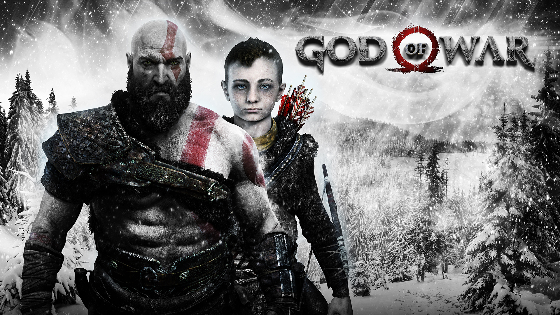 god of war 1920×1080 kratos atreus