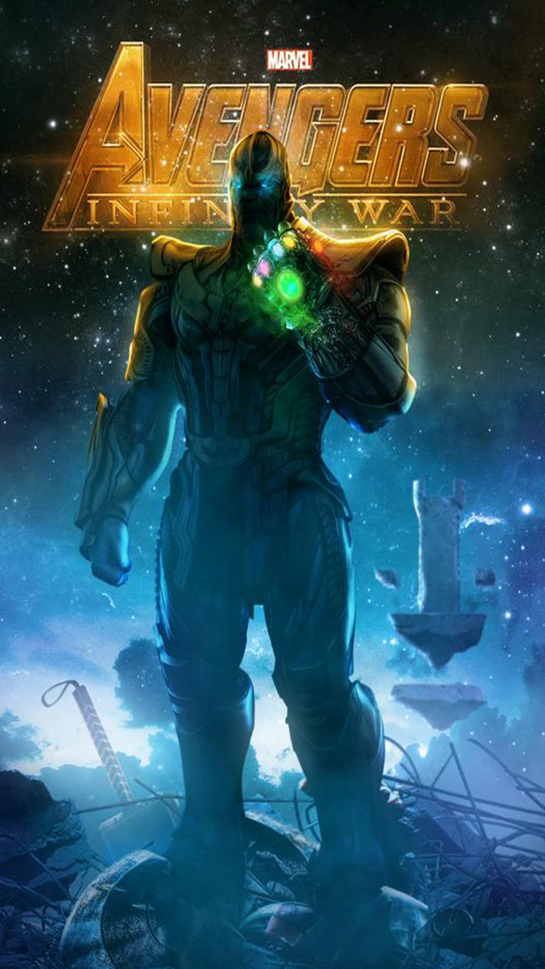 iPhone wallpaper avengers infinity war thanos