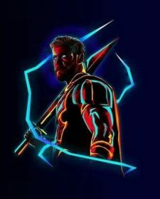 Thor Neon Avengers infinity War iPhone Wallpaper iphones wallpapers